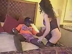 Brunette white wife with black lover - Homemade Interracial Cuckold