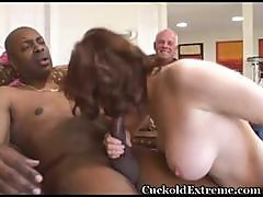 Milky White Busty Wife Gets Stuffed With A Bbc While Her Cuckold Hubby Watches