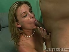 Amanada Blow gets her mouth filled with warm cum