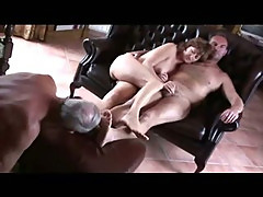 Old cuckold lick both wife and master feet
