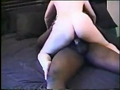 Black cock drills the horny wife hard