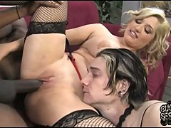 Dayna Vendetta banging her beaver with a black dick