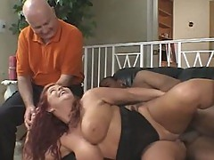 Cuckold - black guys screws his wife. hubby watches