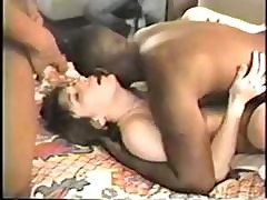 Yummy Housewife Gets Her Black Dick Gangbang Fantasy To Come True