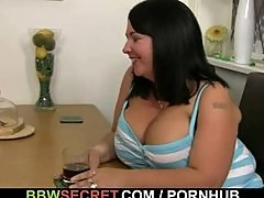 BBW fucks married guy