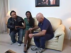 Sexy Black Wife Gets Screwed In front Of Husband