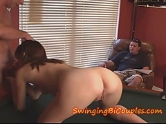 Cuckhold HUBBY is Made to SWALLOW