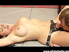 Mean Teen Cheerleader Makes Boyfriend Ride Strap On