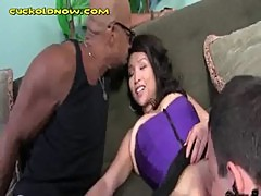 Asian Wife Sucks A Giant Black Dick