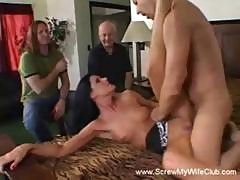 Brunette Wife Is A Swinger And Will Suck Or Fuck Any Hard Cock