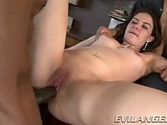Horny Nicole Rider gets her tight pussy pummelled