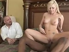 Samantha Sin cuckolds her man with black cock