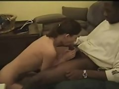Horny wife sucks and fucks black dick