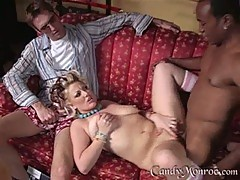 Candy Monroe lusty babe plow with a black axe