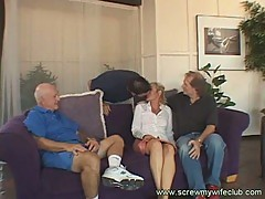 Wife enjoys a wild ride while cuckhold husband watches