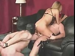 Dude Is Tied Up A Masked As She Fucks Another Guy In Front Of Him