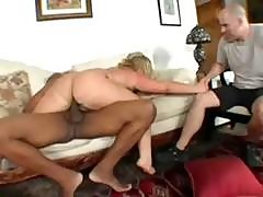 Blonde Bbw Cuckolds Her Husband With A Big Black Cock In Front Of Him