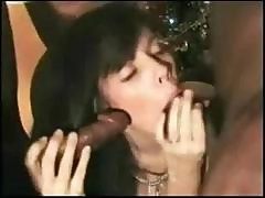 Brunette French Wife Marion Is In A Gangbang And Gets Nailed In All Holes