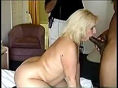 Fat wife sucking dick and fucking in hotel room