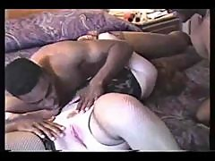 Two black guys fuck mature wife in hotel