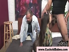 Interracial cuckold encounter with ebony guy with big dick