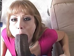 Horny MILF bitch enjoys a good black dick