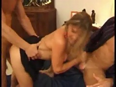 Florence, mature double penetrated