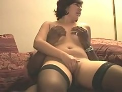 White amateur wife takes black creampie