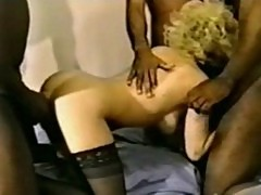 Xxx interracial cuckold - cream pie gangbang