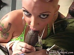 Candy Monroe check the hard and long dick in her mouth
