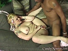 Candy Monroe lock her hole with hot black guy's dick